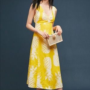 Anthropologie yellow pineapple dress.  Size 14